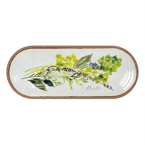 Epicurean Melamine Alfresco Oval Appetiser Tray 38 x 15cm