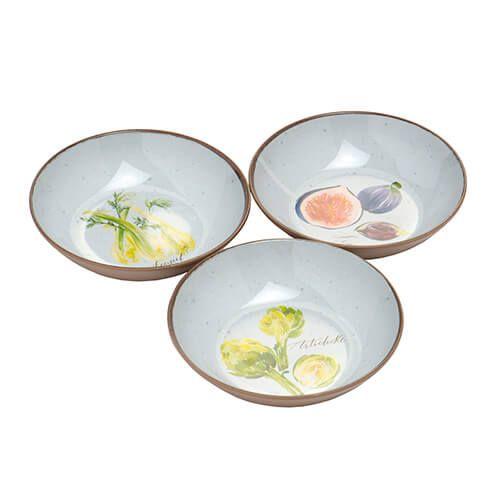 Epicurean Melamine Alfresco Set Of 3 Dipping Bowl Set