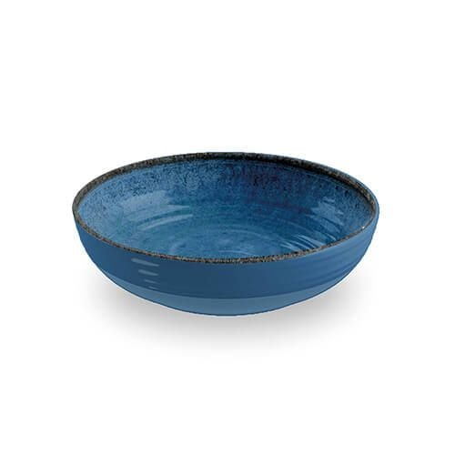 Epicurean Melamine Artisan Indigo Low Bowl