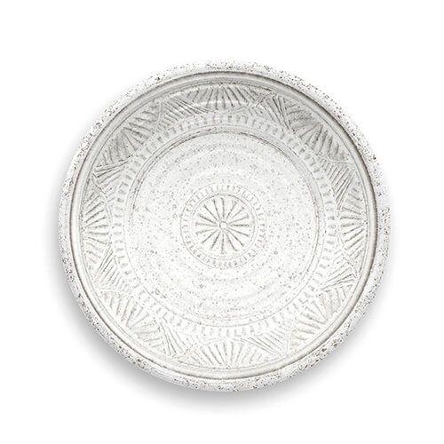 Epicurean Melamine Artisan White Side Plate