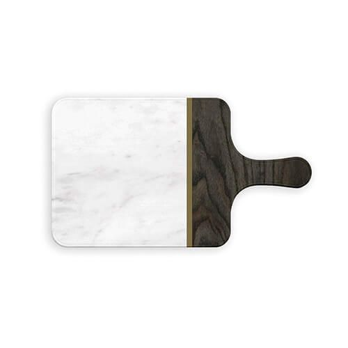 Epicurean Melamine Small Marble Teak Server