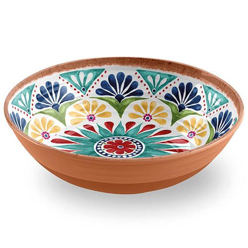 Epicurean Melamine Rio Medallion Large Salad Bowl