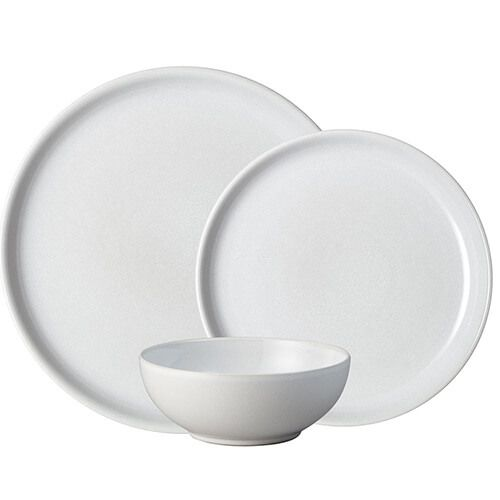 Denby Intro Stone White 12 Piece Tableware Set
