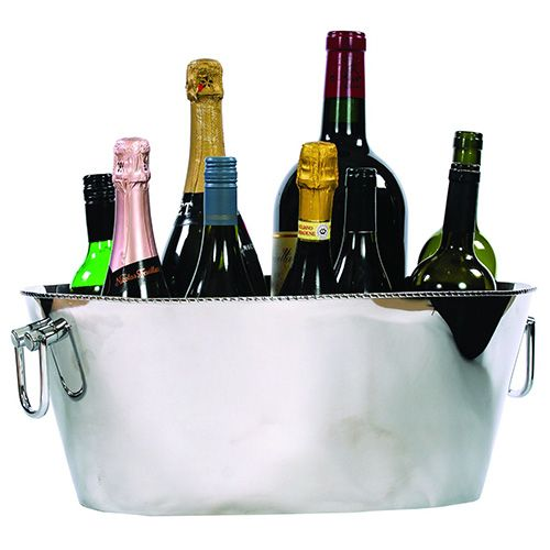 Epicurean Regal Polished Steel 12 Bottle Champagne / Wine Cooler