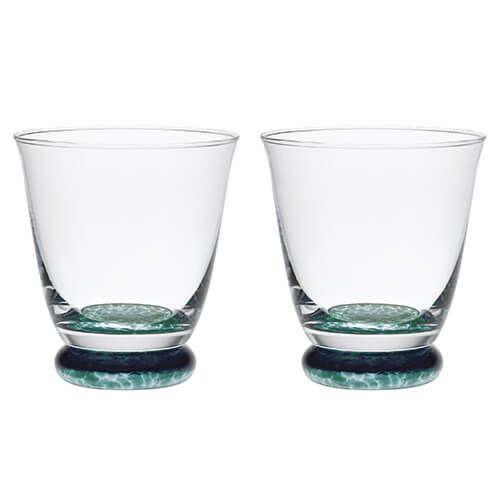 Denby Greenwich / Regency Green Pack Of 2 Small Tumblers