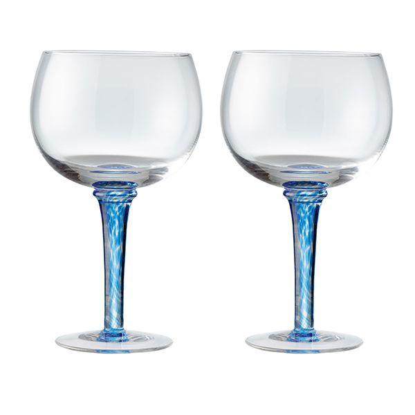Denby Imperial Blue Set Of 2 Gin Glasses