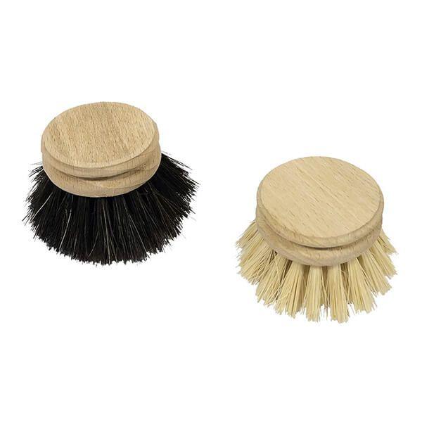 Valet Dishbrush Replacement Heads (Horse Hair & Plant Fibre)
