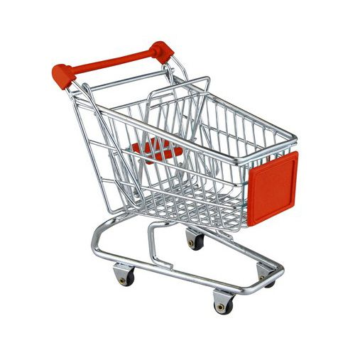 Apollo Chrome Mini Shopping Trolley