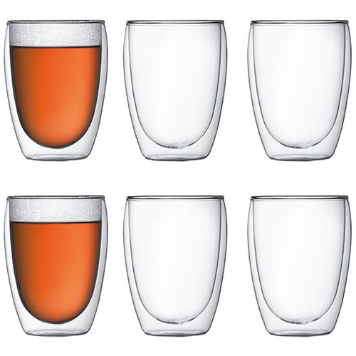 Bodum Pavina Double Wall Glass 0.35L / 12oz Set Of 6