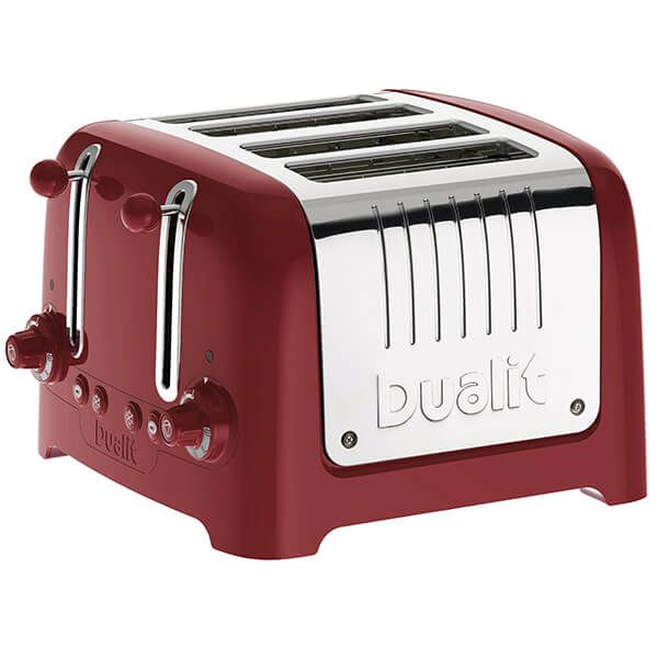 Dualit Lite 4 Slot Toaster Gloss Red