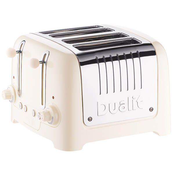 Dualit Lite 4 Slot Toaster Canvas White
