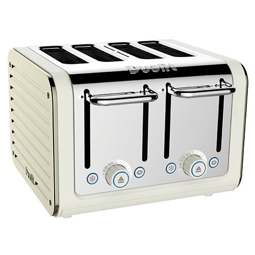 Dualit Architect 4 Slot Canvas Body With Canvas White Panel Toaster