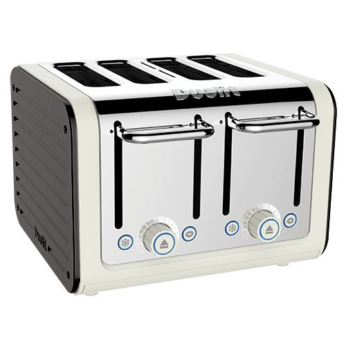 Dualit Architect 4 Slot Canvas Body With Cobble Grey Panel Toaster
