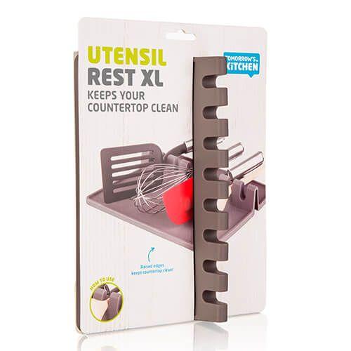 Tomorrow's Kitchen Utensil Rest XL Grey