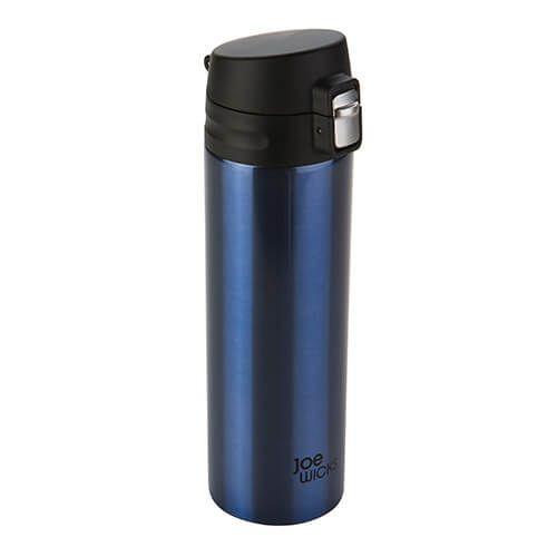 Joe Wicks Vacuum Bottle Stainless Steel Blue 500ml