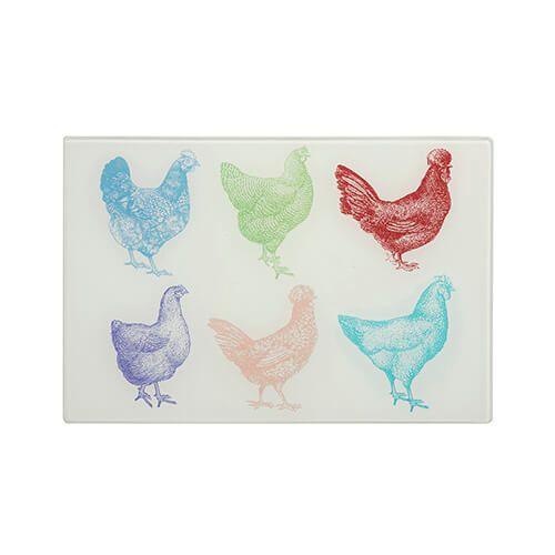 Eddingtons Cockerel & Hen Small Multicolour Worktop Saver 30 x 20cm