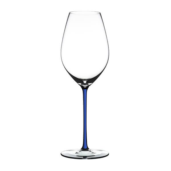 Riedel Hand Made Fatto A Mano Champagne Wine Glass Dark Blue