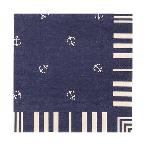 Seasalt Scattered Anchor Paper Napkins Pack of 20
