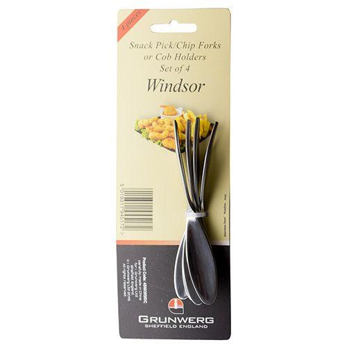 Grunwerg Windsor Set Of 4 Snack Picks / Forks