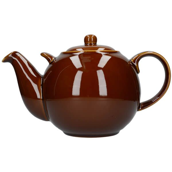 London Pottery Globe 10 Cup Teapot Rockingham Brown