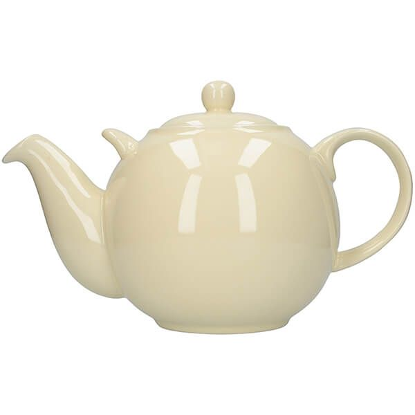 London Pottery Globe 10 Cup Teapot Ivory