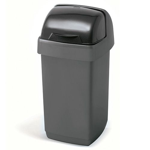 Addis 10 Litre Roll Top Bin Metallic