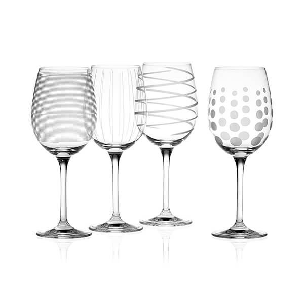 Mikasa Cheers Set Of 4 White Wine Glasses