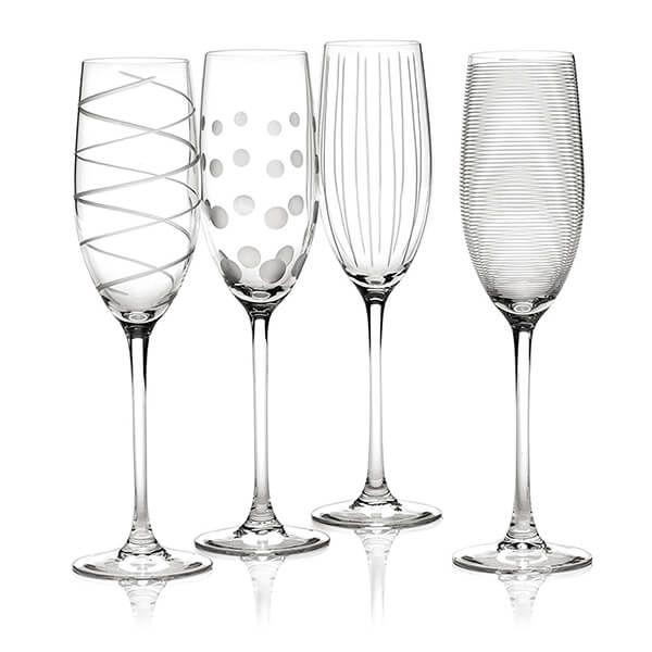 Mikasa Cheers Set Of 4 Flute Glasses