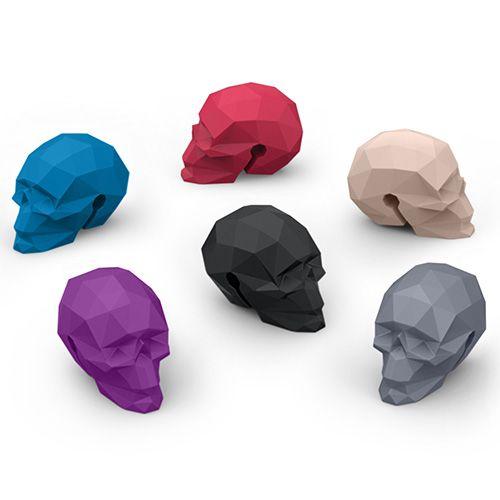 Fred Bar Bones Skull Set of 6 Glass Markers