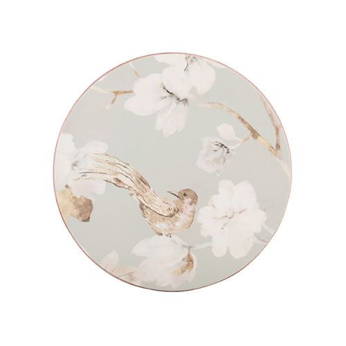 Creative Tops Duck Egg Floral Set of 4 Premium Round Coasters