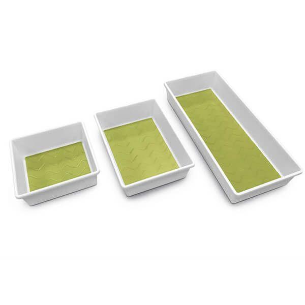 Addis White & Green Drawer Tidy Triple Pack