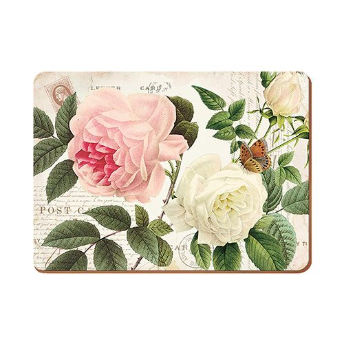 Creative Tops Rose Garden Set Of 6 Premium Table Mats