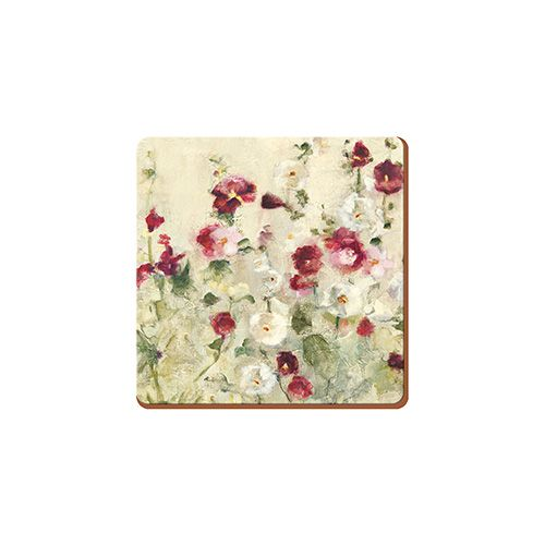 Creative Tops Wild Field Poppies Set Of 6 Premium Coasters