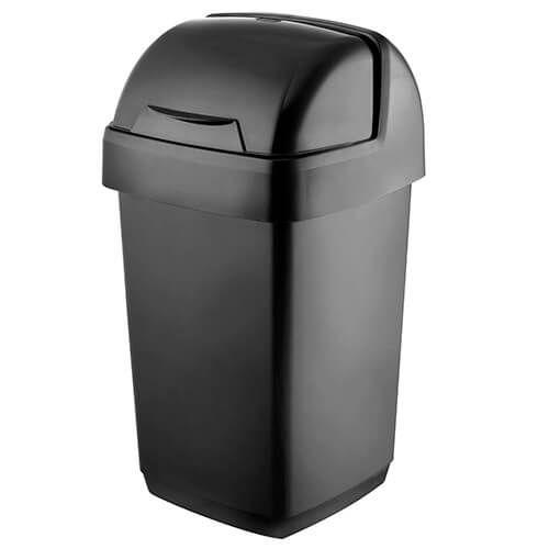 Addis 10 Litre Roll Top Bin Black