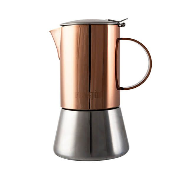 La Cafetiere 4 Cup Stainless Steel Copper Stovetop Espresso Maker
