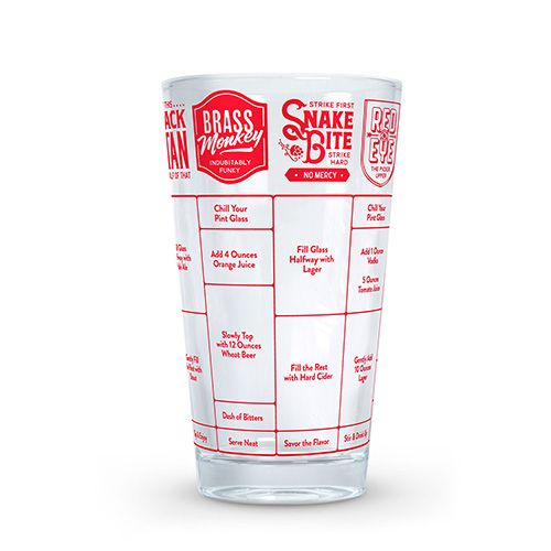 Fred 'Good Measure' Beer Recipe Glass