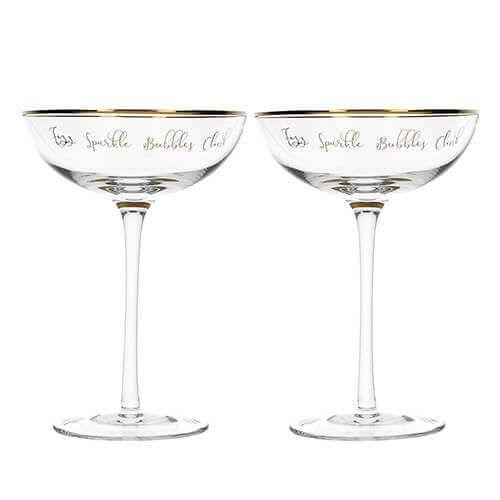 Ava & I Set 2 Champagne Saucers