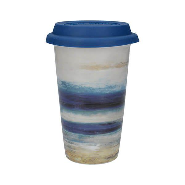 Creative Tops Blue Abstract Travel Mug