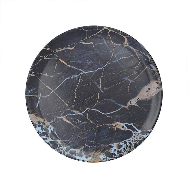 Creative Tops Navy Marble Round Matte Tray