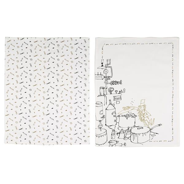 Roald Dahl Charlie And The Chocolate Factory Phizz-Whizzing Set of Two Tea Towels