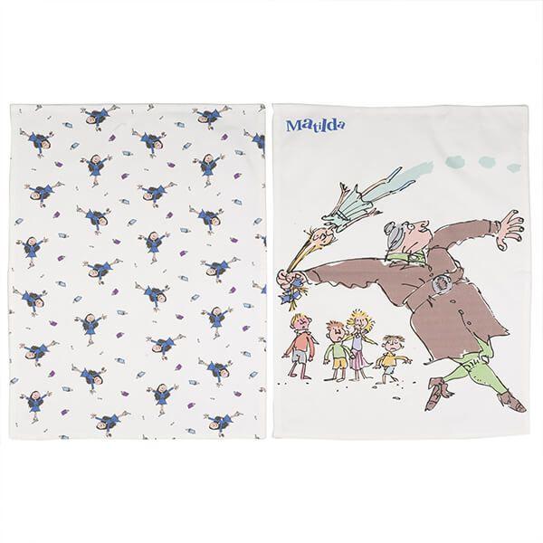 Roald Dahl Matilda Set Of 2 Tea Towels