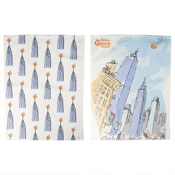 Roald Dahl James And The Giant Peach Set Of 2 Tea Towels