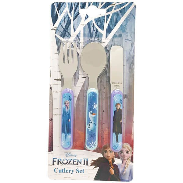 Disney Frozen II 3 Piece Metal Cutlery Set