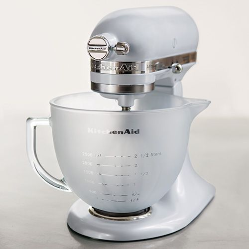 Kitchenaid Artisan 4 8 Litre Frosted Glass Bowl With Lid