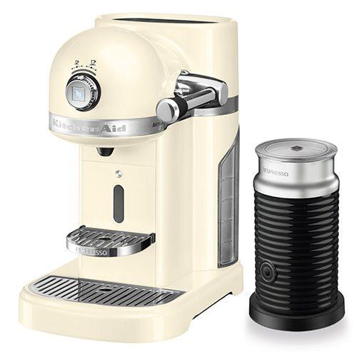 KitchenAid Artisan Nespresso Almond Cream Coffee Maker & Aeroccino 3