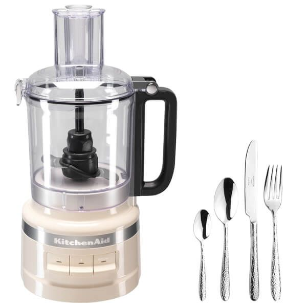 KitchenAid 2.1L Almond Cream Food Processor with FREE Gift