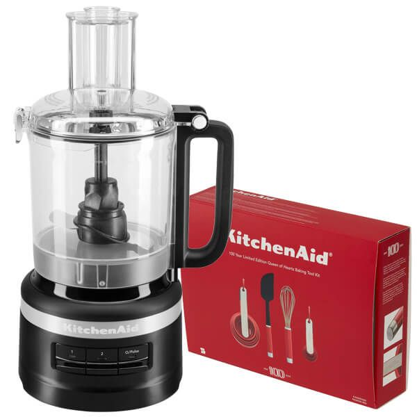 KitchenAid 2.1L Matte Black Food Processor with FREE Gift