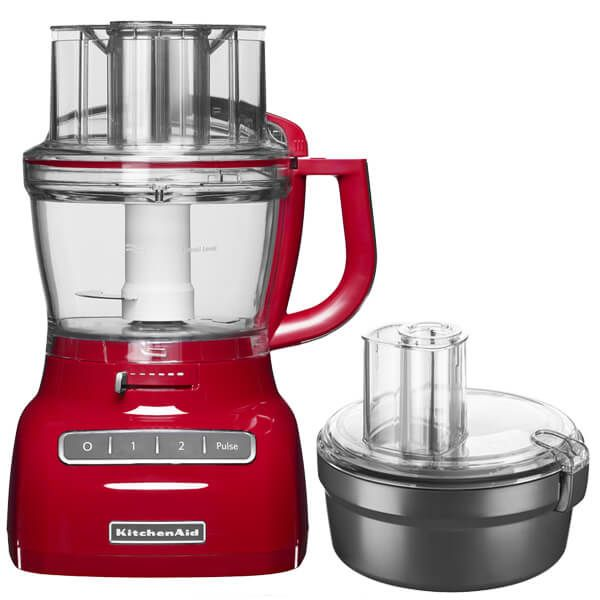 KitchenAid 3.1L Empire Red Food Processor with FREE Gift
