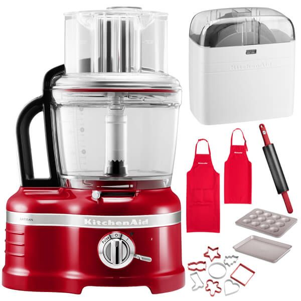 KitchenAid Artisan Empire Red 4L Food Processor with FREE Gifts