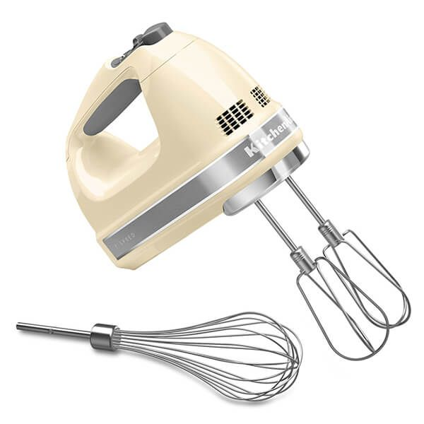 Kitchenaid 7 Speed Hand Mixer Almond Cream